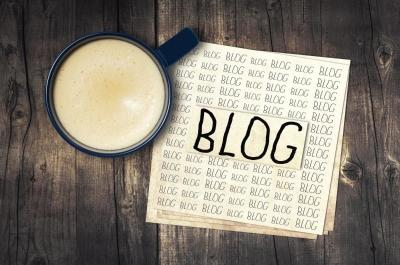 Blog Paper with Coffee Mug